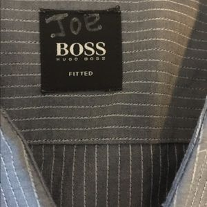 Men's Grey striped shirt fitted large